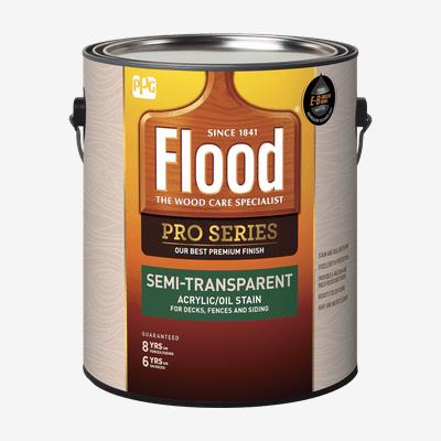 FLOOD<sup>&#174;</sup> PRO Semi-Transparent Acrylic/Oil Stain (100 VOC)